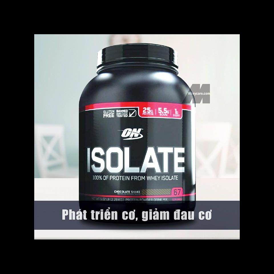 ON ISOLATE CHOCOLATE SHAKE 5.02LB – 2.28 KG – Phát triển cơ, giảm đau cơ