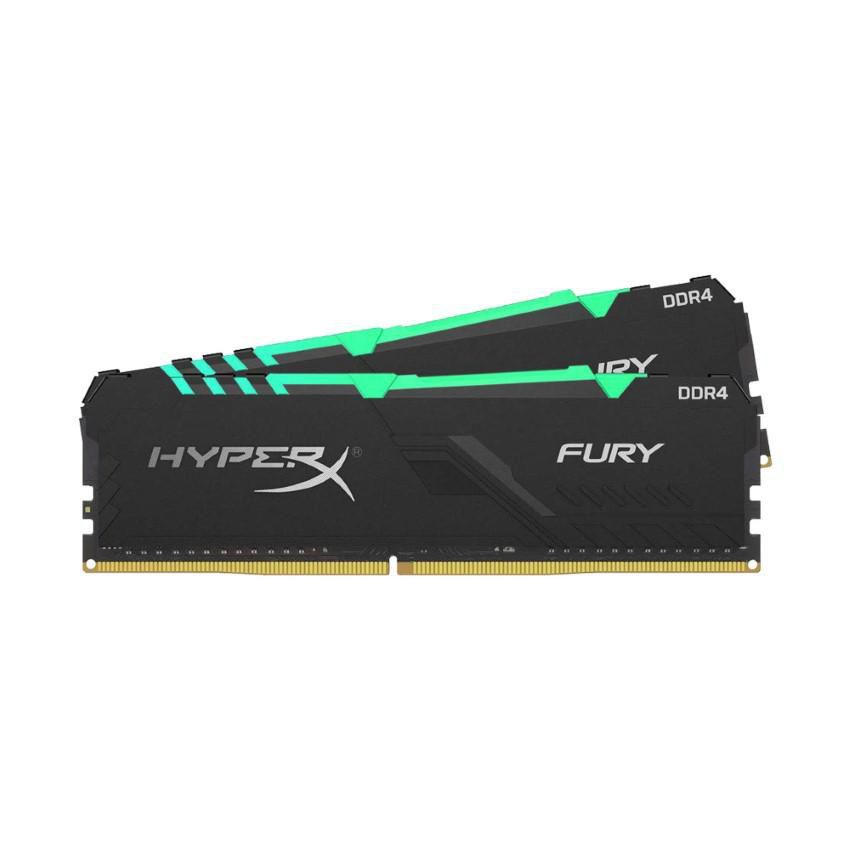 Ram Desktop Kingston HyperX Fury RGB (HX432C16FB4AK2/32) 32GB (2x16GB) DDR4 3200Mhz