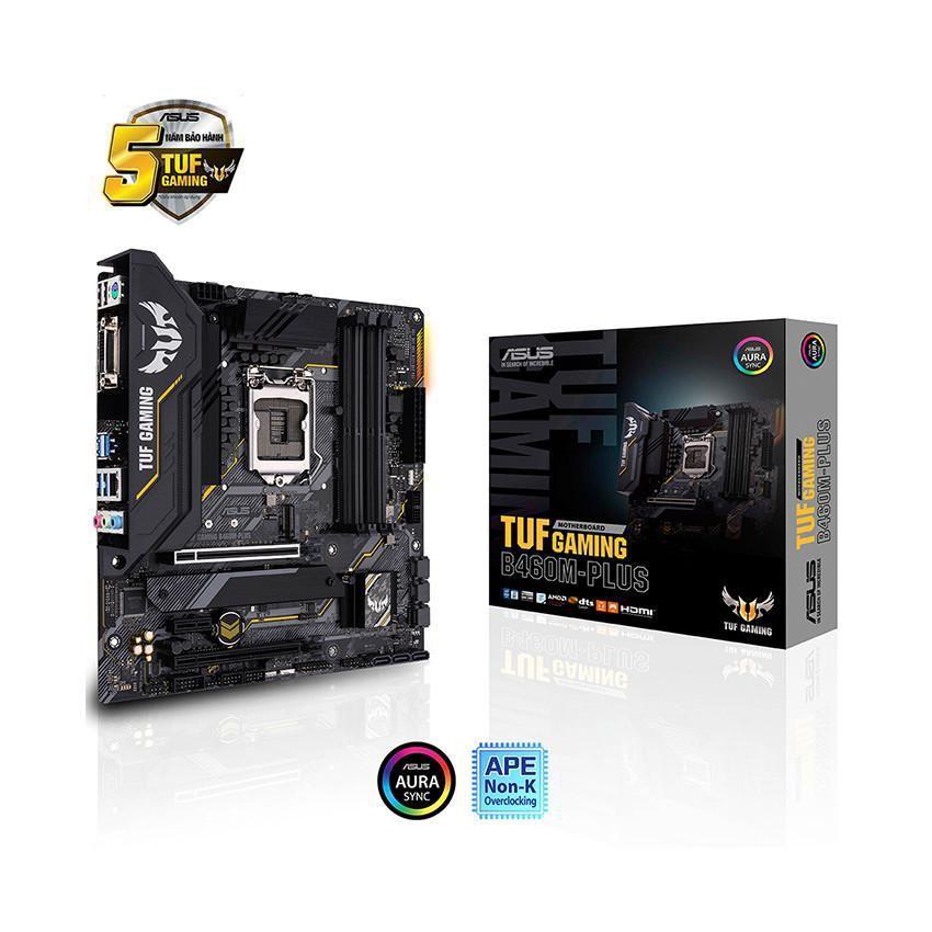 Mainboard ASUS TUF GAMING B460M-PLUS (Intel B460, Socket 1200, m-ATX, 4 khe Ram DDR4)