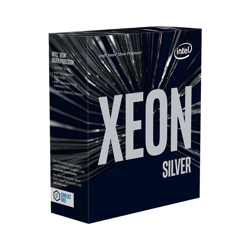 CPU Intel Xeon Silver 4110 (2.1GHz turbo up to 3.0GHz, 8 nhân, 16 luồng, 11MB Cache, 85W) - Socket Intel LGA 3647