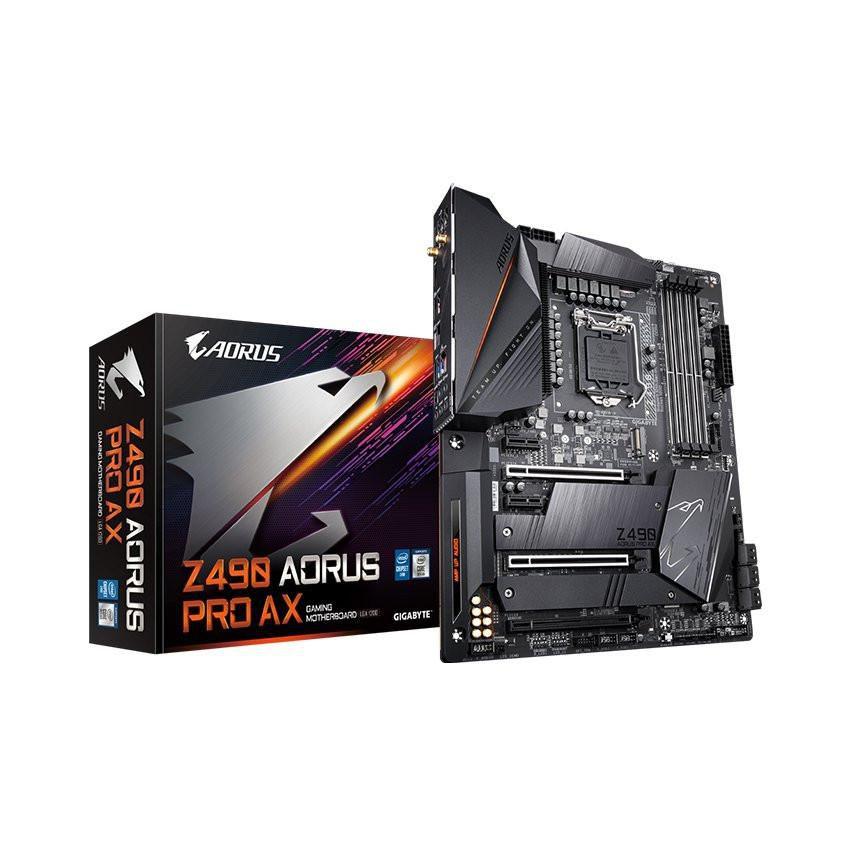 Mainboard GIGABYTE Z490 AORUS PRO AX (Intel Z490, Socket 1200, ATX, 4 khe RAM DDR4)