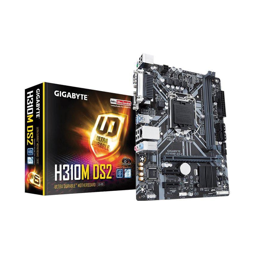 Mainboard GIGABYTE H310M-DS2 (Intel H310, Socket 1151, m-ATX, 2 khe RAM DDR4)