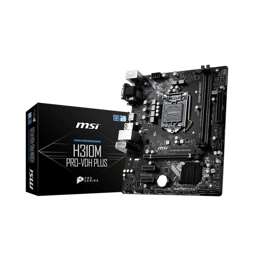 Mainboard MSI H310M PRO-VDH PLUS (Intel H310, Socket 1151, m-ATX, 2 khe RAM DDR4)