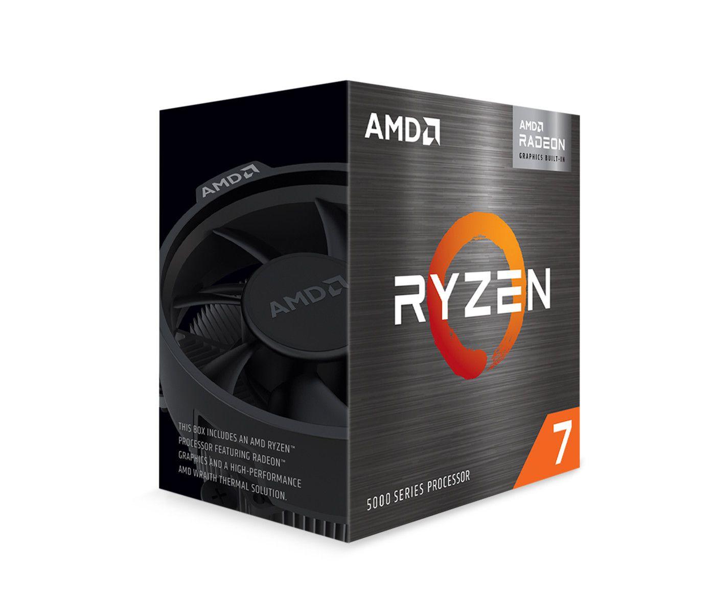 CPU AMD Ryzen 7 5700G (3.8GHz boost 4.6GHz, 8 nhân 16 luồng, 20MB Cache, 65W, Socket AM4)