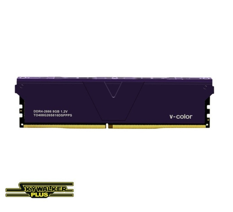 Ram V-Color DDR4 Skywalker Plus 8GB (1X8GB) 2666MHz – Purple Heatsink