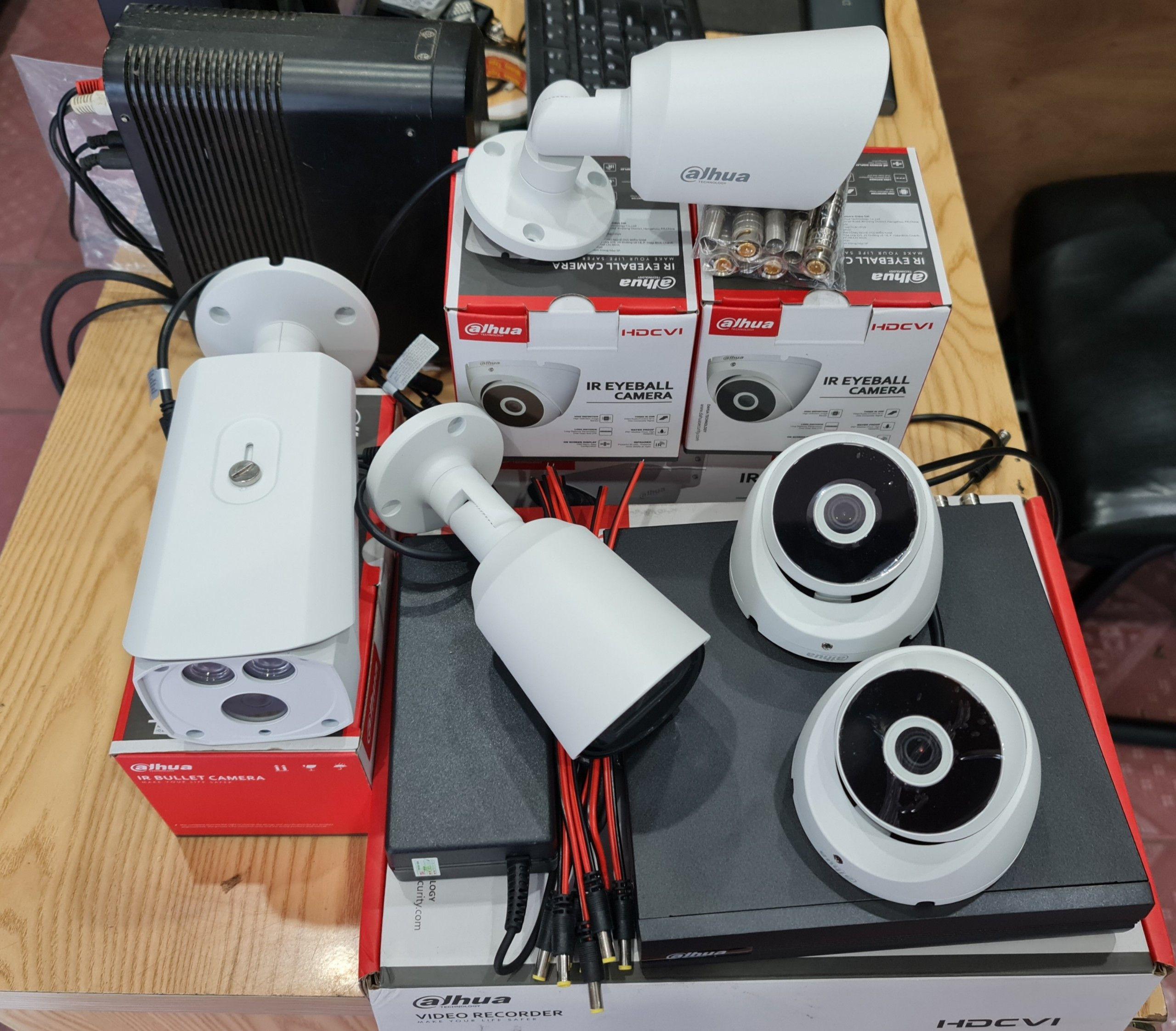 Lắp đặt trọn bộ 2 mắt camera 1080P