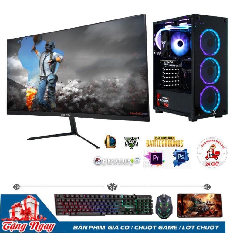 Bộ PC Gaming B360/ i3 9100F/RAM 8GB/ GTX 1060-3G/Màn Hình 24inch Cong Full Viền