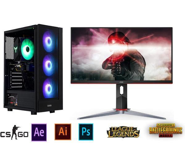 Bộ PC Gaming H310/ i3 9100F/RAM 8GB/ GTX 1060-6G/Màn Hình 24inch Full Viền