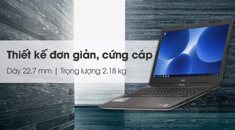 Laptop Dell Inspiron 3581 i3 7020U/4GB/256GB/2GB AMD 520/Win10 (N5I3150W)