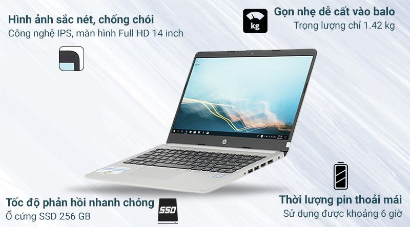 Laptop HP 348 G5 i3 7020U/4GB/256GB/Win10 (7XJ62PA)