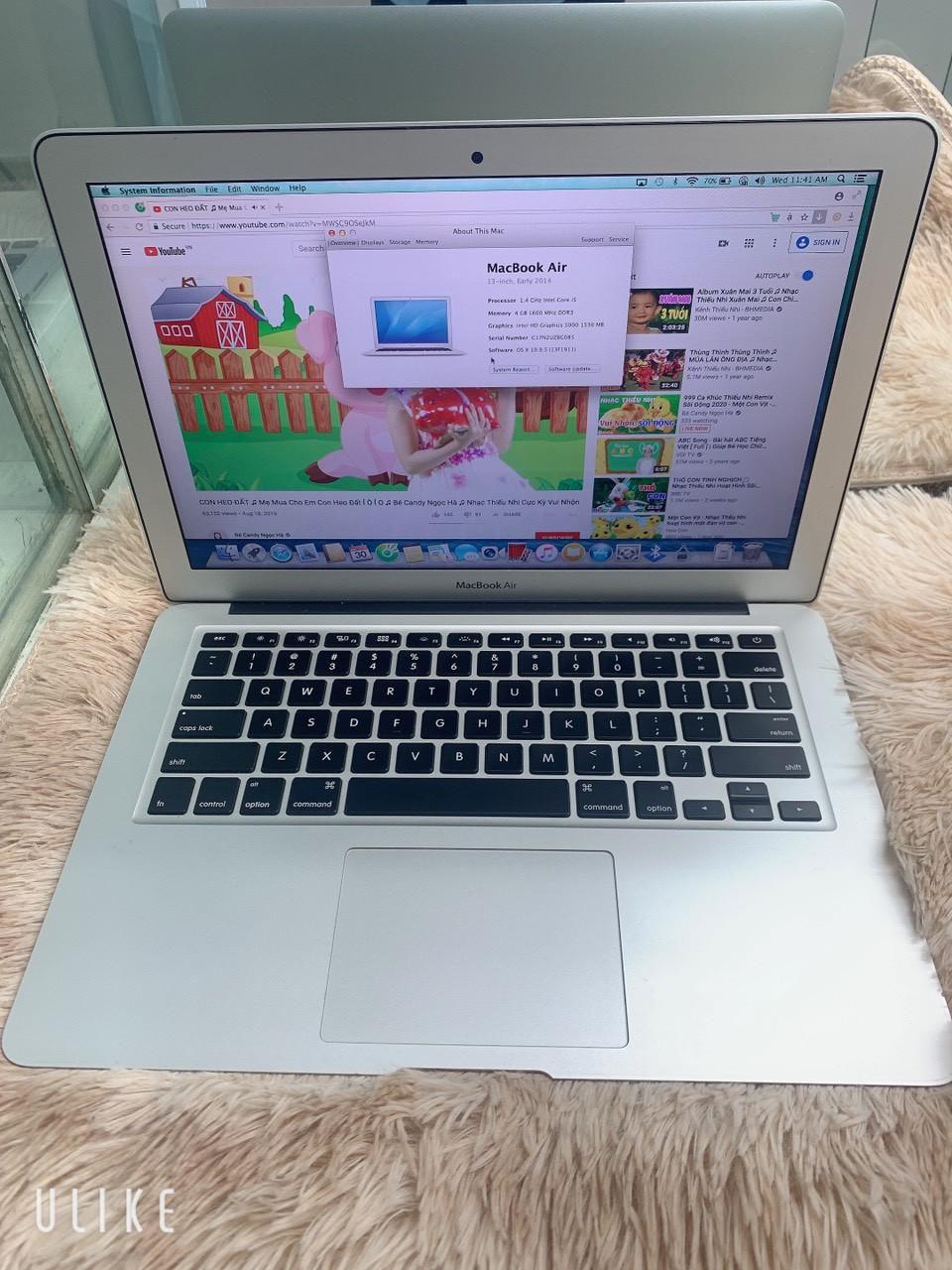 """Macbook Air 2014 13"""", Core i5/4Gb/128Gb"""